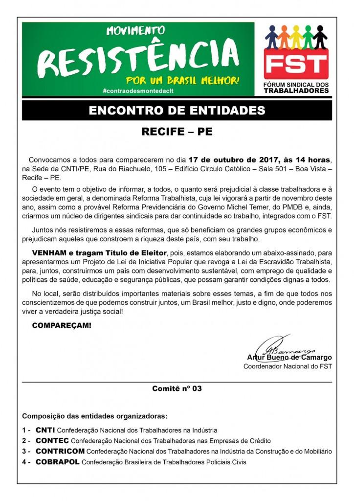 Encontro Entidades Convocação_17-10_Recife-PE_Entidades_Email