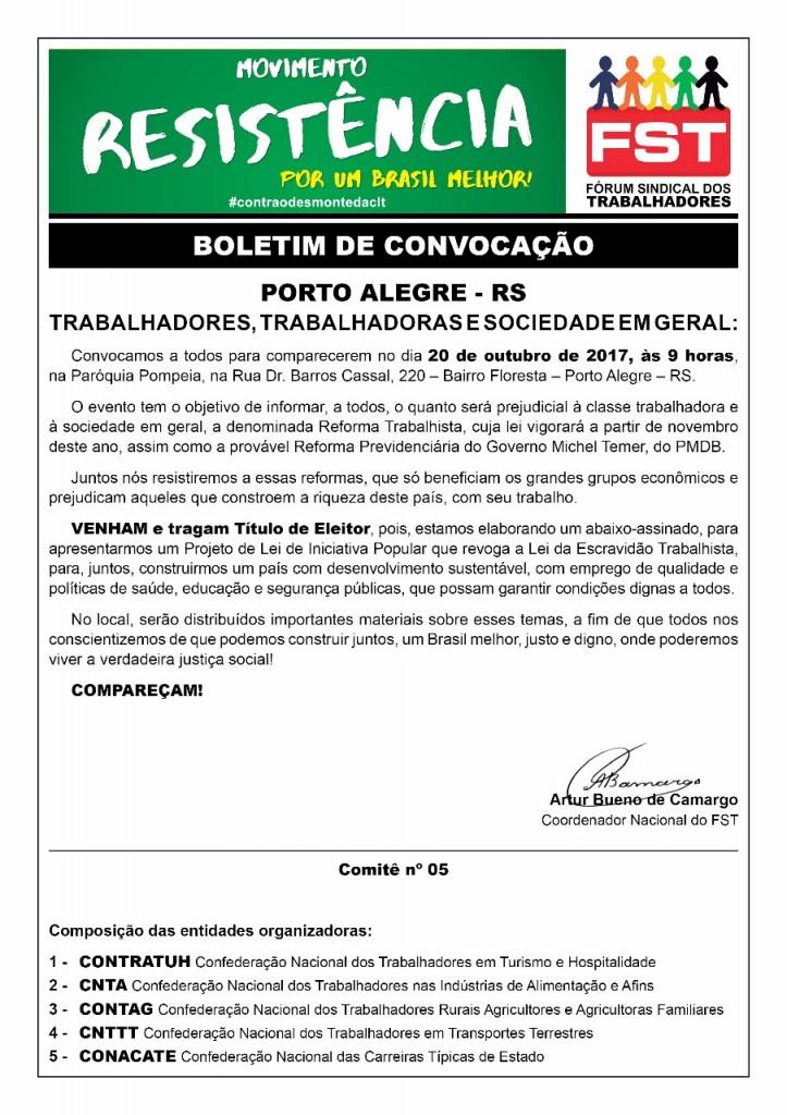 Oficio Ato Público Rio Grande do Sul